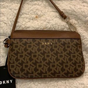 DKNY wristlet  in brown - brand new - on SALE!